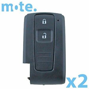 2 X 2 Button Smart Remote Key Keyless Shell Case Compatible With Toyota Prius