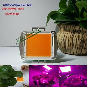 200w 380nm 840nm High Power Full Spectrum Led Chip Grow Light For Hydroponics