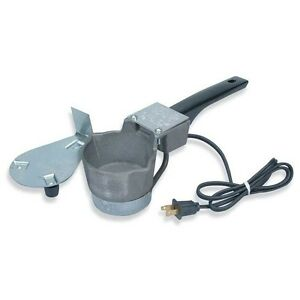 Electric Cast Iron Lead Melter Pewter Casting Mold Ladle Dipper Pot w Stand New