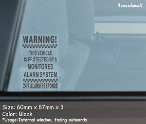 3 X Vehicle Protected By A Alarm System Car Truck Security Stickers Best Gifts