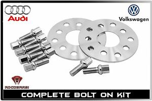 5 Mm Thick Audi Volkswagen Wheel Spacers 5x100 5x112 57 1 H B Fast Shipping