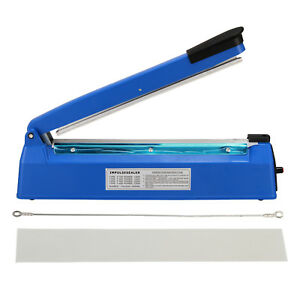 300mm Heat Sealing Hand Impulse Sealer Machine Poly Free Element Plastic Sealer