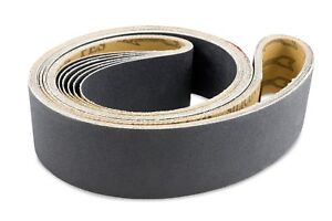 2 X 48 Inch 80 Grit Silicon Carbide Sanding Belts 6 Pack
