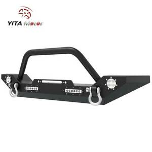 Yitamotor Front Bumper Built In Led Lights For Jeep Wrangler 07 18 Jk Unlimited