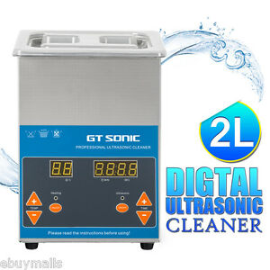Professional 2l Stainless Steel Ultrasonic Cleaner Heater Timer Jewerly Dental
