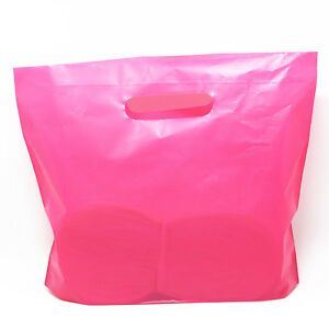 Rose Wholesale Plastic Shopping Bag Lovely Style Handle Shopping Bags