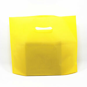 Yellow Large Plastic Shopping Bag Gift Boutique Reusable Packaging Pouches