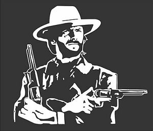 Clint Eastwood Die Cut Decal Sticker Various Sizes And Colors Free Ship