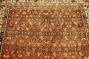 C1920 S Antique Prsian Bijar Rug 3 9x5 4 Classic Village Wovenhighly Detailed