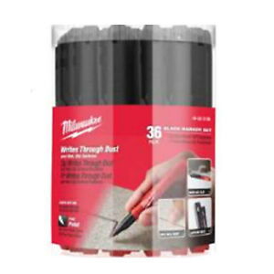 Milwaukee 48 22 3100p Inkzall Black Fine Point Bulk Marker 36 Pack
