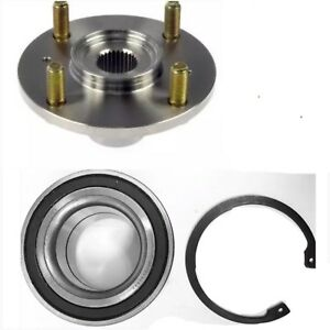 Front Wheel Hub Bearing W Snap Ring For 1994 2001 Acura Integra Each