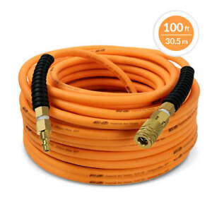 DuraDrive 14 in. x 100 ft. Premium Hybrid Polymer Air Hose with Swivel Fitting