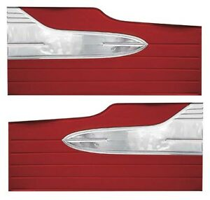 63 Falcon Futura 4 Door Sedan 4 Door Station Wagon Door Panels Pair Red