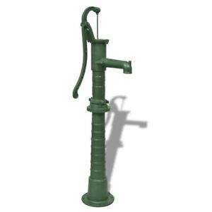 Vidaxl Hand Pump W Stand Cast Iron Well Water Pitcher Press Yard Pond Garden