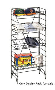 New Retail Four Shelves Adjustable Black Display Rack 55 h X22 w X13 d