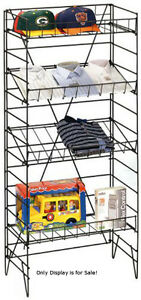 Retails Black 4 Shelves Wire Floor Display Rack 55 H X 22 w X 13 Deep