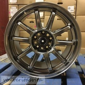 17 Staggered Wheels Rims Tarmac Style Hyper Dark Fits Ford Mustang