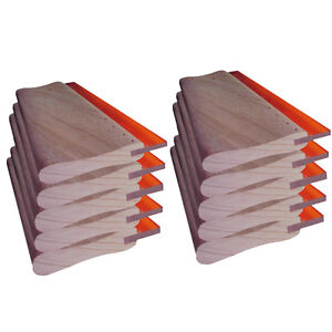 10pcs Screen Printing 9 4 Oiliness Squeegee Ink Scraper 24cm Hand Tool