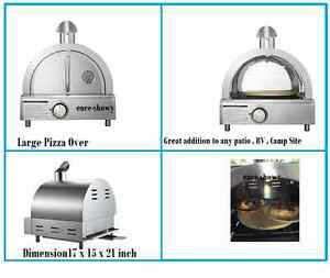 Large Table Top Gas Pizza Oven Stainless Steel Portable Grill 12001 Btu Burn