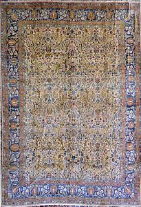 Tree Of Life Antique Sarough Oversize Persian Rug Wool 90 Years Old 11x15