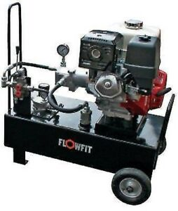 Hydraulic Power Unit Portable 19 5 L min 2900 Psi 9 5 Hp Honda With Lever Valve