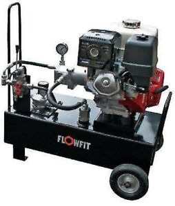 Hydraulic Power Unit Portable 25 5 L min 3045 Psi 13 Hp Honda With Lever Valve