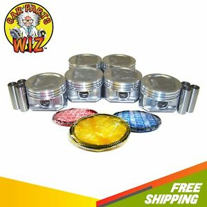 Pistons And Rings Fits 96 06 Jeep Cherokee Grand Cherokee Wrangler 4 0l Ohv