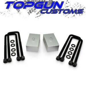 For 2007 2020 Toyota Tundra 2 Rear Lift Leveling Blocks Kit U Bolts 2wd 4wd