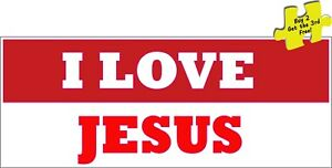 I Love Jesus Religious Decal Sticker 248