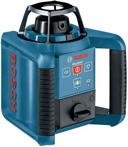 Bosch 1000 Beam Self leveling Rotary Laser Level Remote Control Dual Sided