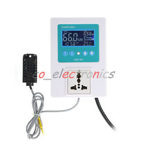10a Temp Thermostat Control Humidity Sensor de humidification Timing Hygrometer