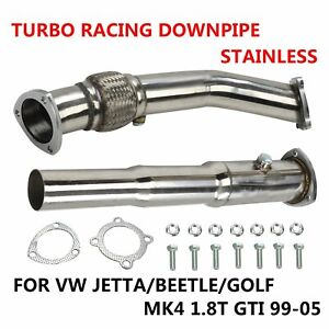 For Vw Jetta beetle golf Mk4 1 8t Gti 99 05 Stainless Turbo Racing Downpipe