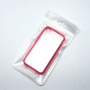 Pearl Zip Lock Plastic Packaging Bag Clear white With Hang Hole Pouch