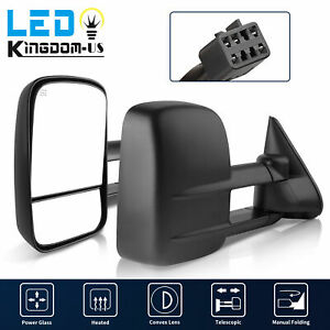 Tow Mirrors For 1999 2002 Chevy Silverado Gmc Sierra 1500 2500 3500 Power Heated