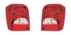 2008 2012 Dodge Caliber Tail Lamp Light Left And Right Pair Set
