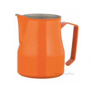 Motta Orange Professional Milk Frothing Pitcher 12 Oz 35 Cl Made In Italy