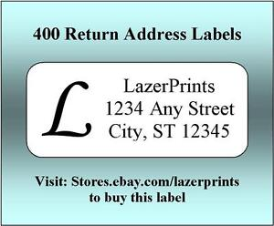 400 Personalized Return Address Labels 1 2 X 1 75 Inch Monogrammed Labels