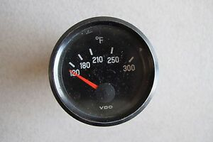 Used Vdo Fahrenheit Temperature Gauge 310 654 12 1 11 75