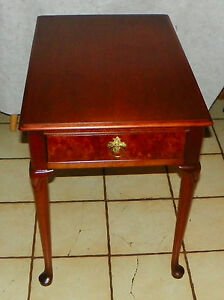 Cherry Mid Century End Table Side Table By Baker Rp