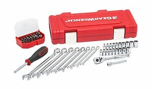 Gearwrench 61pc 1 4dr Socket Wrench Ratchet Set Sae Metric Tool Set 81024