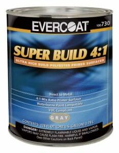 Evercoat Super Build Primer Kit 4 1 Ratio Gallon And Quart 730 And 733