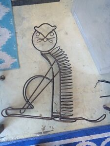 Mid Century Modern Large Coil Spring Cat