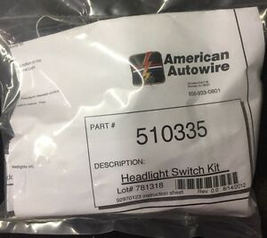 American Autowire 510335 Universal Gm Headlight Switch Kit New