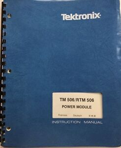 Tektronix Tm 506 rtm 506 Power Module Instruction Manual P n 070 1786 02 Jan 85