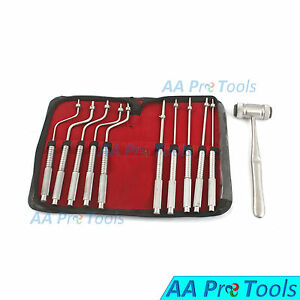 Dental Implant Instruments Sinus Osteotomes Color Coded Free Mead Mallet