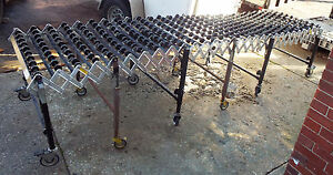 1 Used 13d474 Portable Skate wheel Conveyor 12 x30 Cap 200 Lbs make Offer