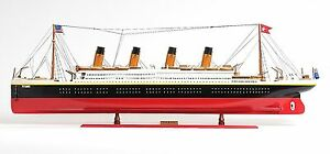 Rms Titanic Ocean Liner Cruise Ship 56 X Large Wood Model Boat Assembled
