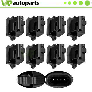 Pack Of 8 Square Ignition Coil For Chevy Gmc Cadillac 5 3l 6 0l 8 1l 4 8l Uf271