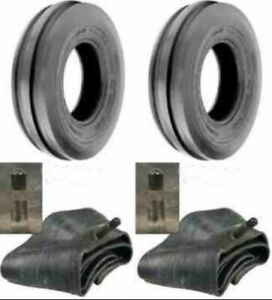 Two 400x19 4 00 19 400 19 F2 Triple Rib Ford 2n 9n Front Tractor Tires W tubes