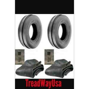 Two New 4 00 19 Tri rib 3 Rib Front Tractor Tires Tubes 8n 9n Ford H d